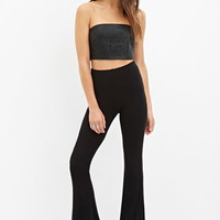 Ribbed Knit Flared Pants