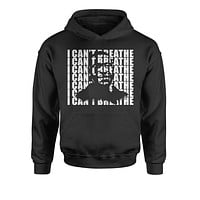 George Floyd - I Can't Breathe Portrait Youth-Sized Hoodie