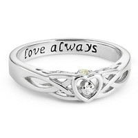 Personalized Sterling Couples Celtic Hidden Treasure Rings With Free Keepsake Box, Add Your Message