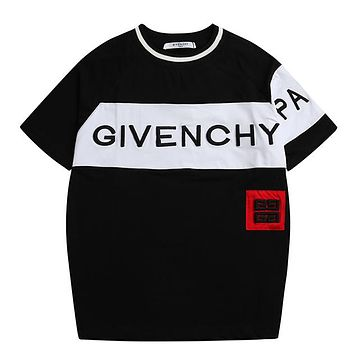 Trendsetter Givenchy  Women Man  Fashion Cotton  Short Sleeve Shirt Top Tee