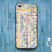 iPhone 4 4s 5 5s 5c 6 6s plus + iPod Touch 4th 5th 6th Gen Awesome Custom Emoji Collage Case Cute Funny Character Cover White Grid Weird Fun