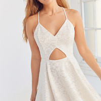 Kimchi Blue Cutout Lace Fit + Flare Dress | Urban Outfitters