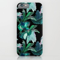 Midnight Iris / Black iPhone & iPod Case by _KEI