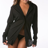 Sexy Black Lingerie Night Shirt style for women
