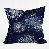 Monika Strigel Midnight Magic Dandelion Throw Pillow