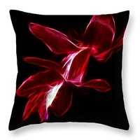 "Christmas Cactus Flower Throw Pillow for Sale by Shane Bechler - 14"" x 14"""