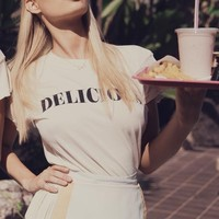 Wildfox Couture Delicious Desert Crewneck in Vintage White