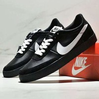 NIKE KILLSHOT 2 LEATHER Fashion New White Hook Leather Women Men Running Shoes Black