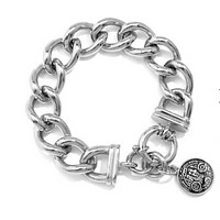 Chain Bracelet With Coin Charm
