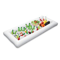 134x64cm Inflatable Beer Cooler Table Pool Float