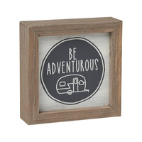 Be Adventurous with Camper - Framed Box Sign 5-in