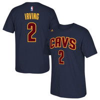 Kyrie Irving Cleveland Cavaliers adidas Net Number T-Shirt – Navy Blue