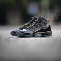 Air Jordan 11 - Black / Gamma Blue - Varsity Maize - KicksOnFire.com