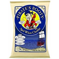 Pirate's Booty Aged White Cheddar Rice and Corn Puffs, 4 oz - Walmart.com