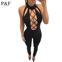 Elegant Women Rompers Jumpsuit 2016 New Summer one Pieces Outfits Bodysuit Sleeveless v neck Sexy Club Bodycon Playsuit white