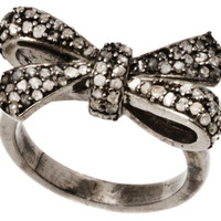 Champagne Diamond Bow Ring, Stone & Novelty Rings