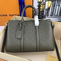 LV Louis Vuitton MONOGRAM LEATHER ONE HANDLE HANDBAG INCLINED SHOULDER BAG