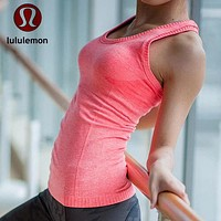 """lululemon"" Fashion Print Exercise Fitness Gym Yoga Running Sports Vest BRA"