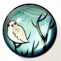 Large Snowy Owl Magnet