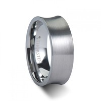 EROS Concave Tungsten Carbide Ring with Brushed Finish
