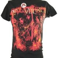 Black Veil Brides (BVB) Mens T-Shirt - Firey Band Photo Image on Black (Large)