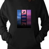 Rainbow Skies and Peter Pan wallpaper disney For Man Hoodie and Woman Hoodie S / M / L / XL / 2XL*AP*