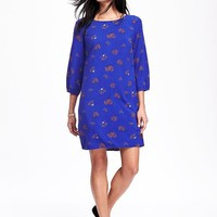 Printed Shift Dress for Women   Old Navy
