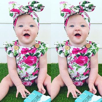 Baby Girl Clothes Kids Clothes born Baby Clothes Flower Infant Jumpsuits Children Clothing