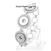 Triple Snap Silver Snap Bracelet for 18-20mm Snap Charms