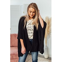 Going Places Cardigan - Black