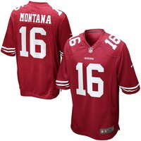 Mens San Francisco 49ers Joe Montana Nike Scarlet Retired Player Game Jersey