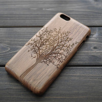 Personalized iPhone 6 plus Wood Case , Custom Wood iPhone 6 plus Case , Engraved iPhone 6 Case Wood , Christmas Gift for Men, Women