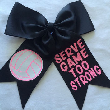 Serve Game Too Strong Hair Bow