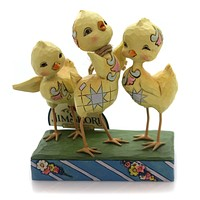 Jim Shore HOORAY FOR SPRING Polyresin Trio Of Chicks Easter 6001077