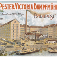 Pest Victoria Steam Mill Austria-Hungary 1900 Vintage Poster