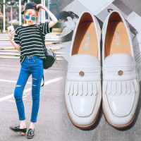 Summer With Heel England Style Vintage Tassels Korean Shoes [6044929473]