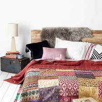 One-Of-A-Kind Silky Kantha Quilt - Assorted One