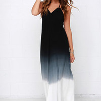 Fade Secret Black Ombre Maxi Dress