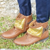 Buried Treasure Boots: Cognac