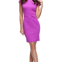 Womens Ladies New party Style Purple Offices Business Bodycon Dresses_Dresses_Women_The Latest Trends & Fashion Clothing For Women Online Store-www.dressin.com