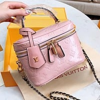 Louis Vuitton LV Women Leather Multicolor Handbag Tote Cosmetic Bag Crossbody Satchel Shoulder Bag