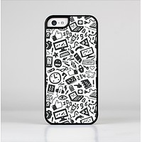 The Black & White Technology Icon Skin-Sert Case for the Apple iPhone 5c