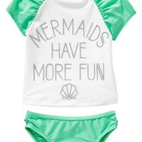 """Old Navy """"Mermaids"""" Tankinis For Baby"""
