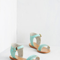Pastel Pep Up the Pace Sandal in Mint