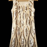 1920s Vintage Style Flapper Sequin Art Deco Gatsby Cocktail Charleston Dress