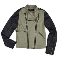 Denim Combo Moto Jacket | Women's Moto Jackets | Members Only | Members Only | Official Online Store