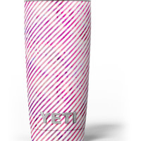 Slanted White Lines Over Multicolored Clouds Yeti Rambler Skin Kit