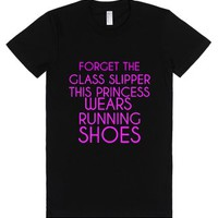 Forget The Glass Slippers-Female Black T-Shirt
