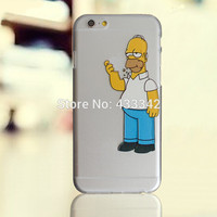Homer Eating Simpson Clear Plastic Case for iPhone 7 6 6S Plus 4 4S 5 5S 5C