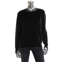 Wyatt Womens Cashmere Long Sleeves Pullover Sweater